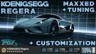 NFS No Limits | Koenigsegg Regera - MAXXED | Tuning + Customization