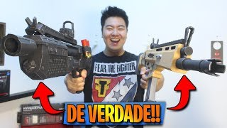 FORTNITE WEAPONS IN REAL LIFE!! * SCAR and HEAVY SHOTGUN! *-Fortnite Battle Royale