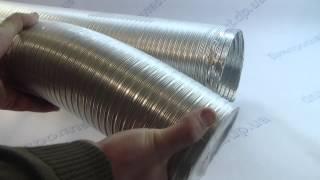 видео Гофрированная труба для вытяжки