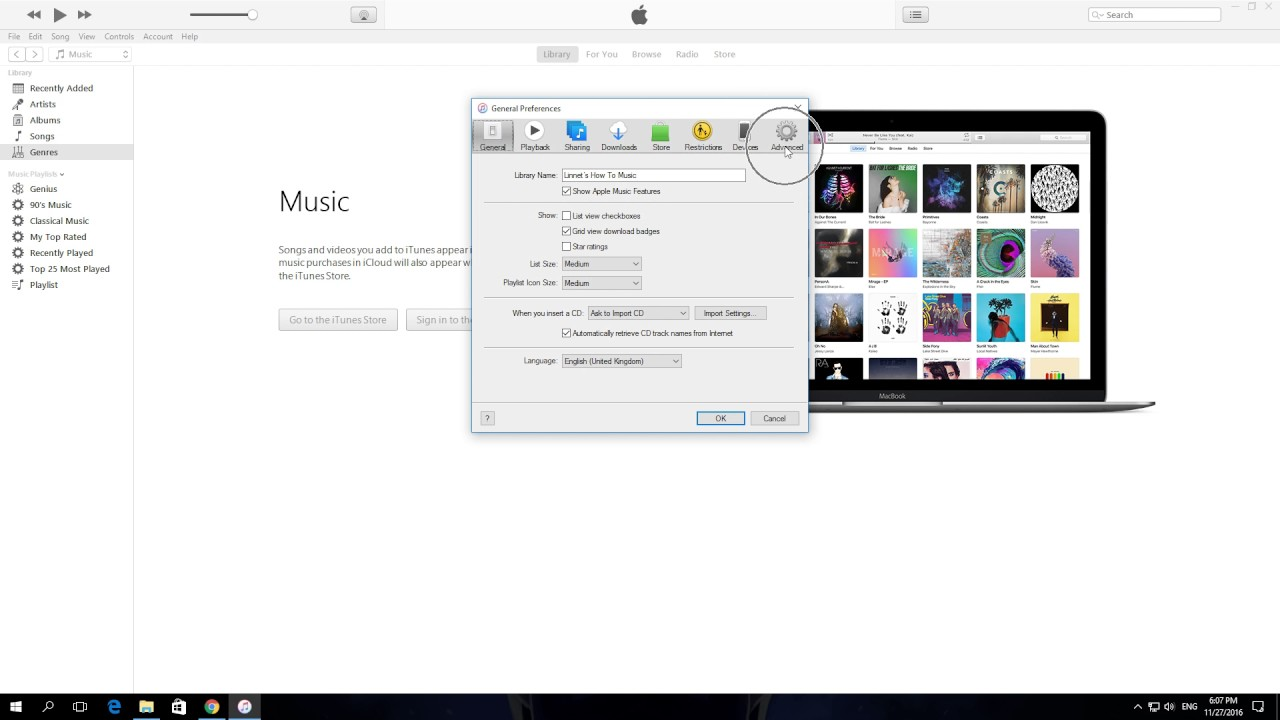 can you share itunes music