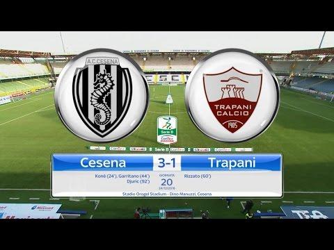 Highlights Cesena-Trapani 3-1, 20^ Giornata SerieB 24.12.16 ©TrapaniCalcio.it