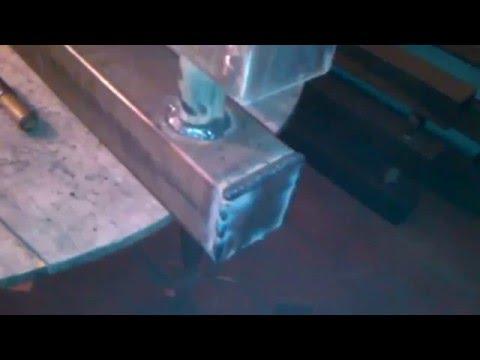 Самодельная батарея для отопления из профильной трубы 100*100*3