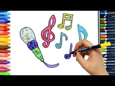 How to draw karaoke | Colors | Drawing and Painting | How to color | Coloring for children