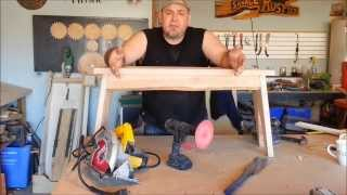 Building A Rustic Bench. 50 Dollar Wood Shop