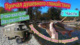 Осенний жор ХАРИУСА Рыбалка на горной реке Уаз Сила Солар 420 стрела Ямаха 30