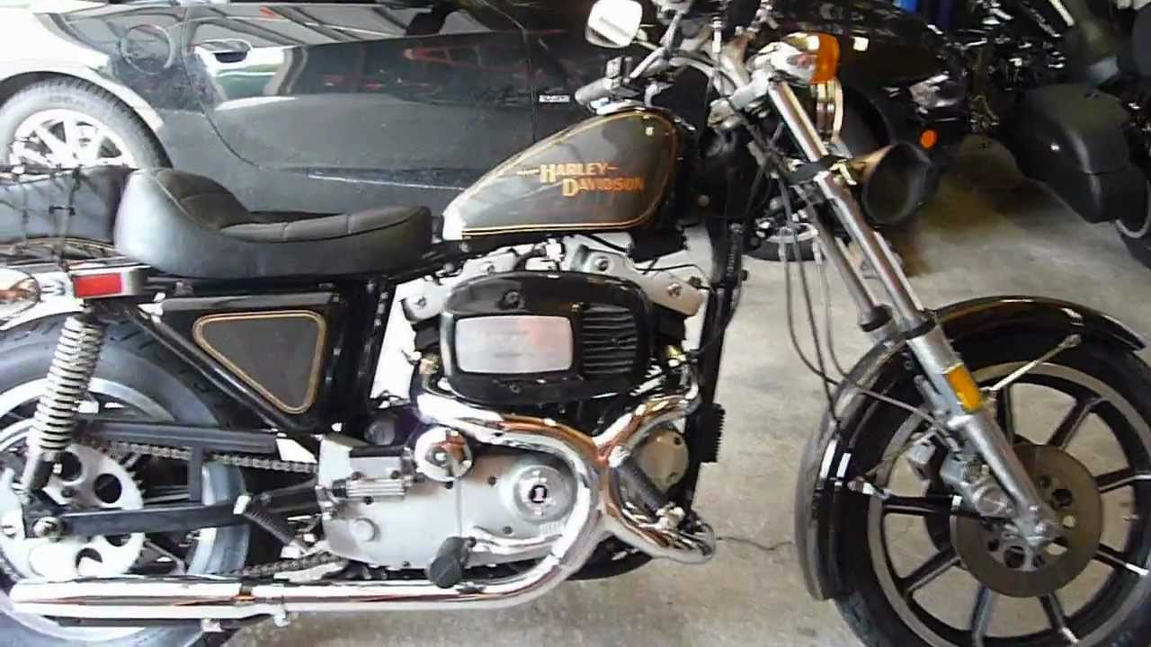 1979 Harley Sportster XLS 1000 Startup - YouTube
