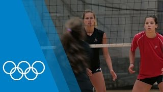 Training for Rio 2016 with USA Women's Volleyball team