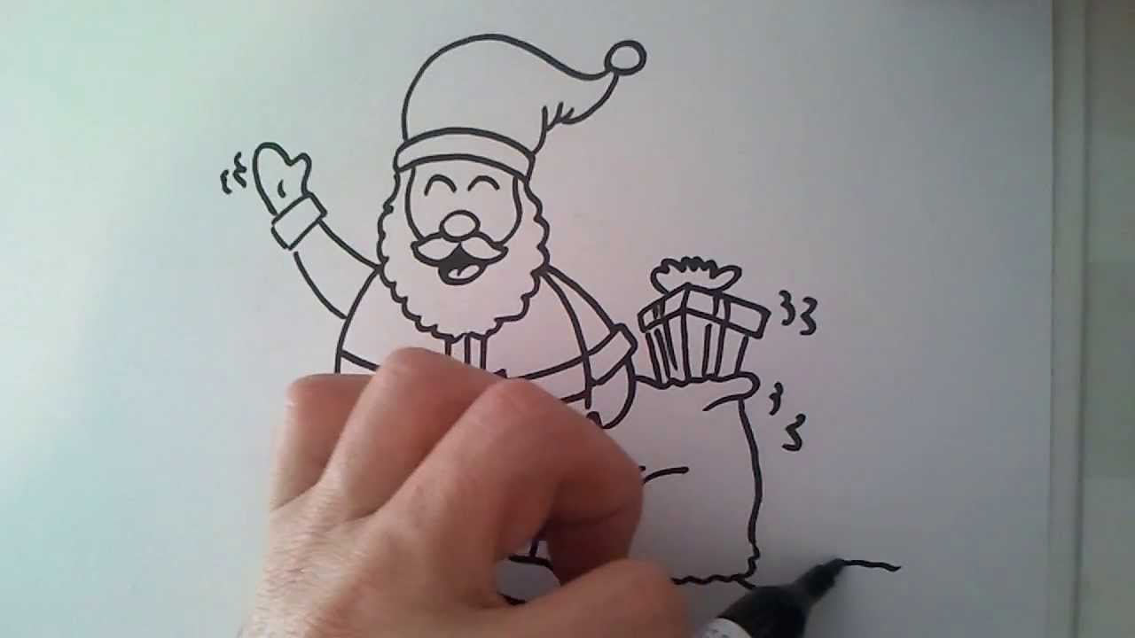 christmas activity how to draw santa claus - YouTube