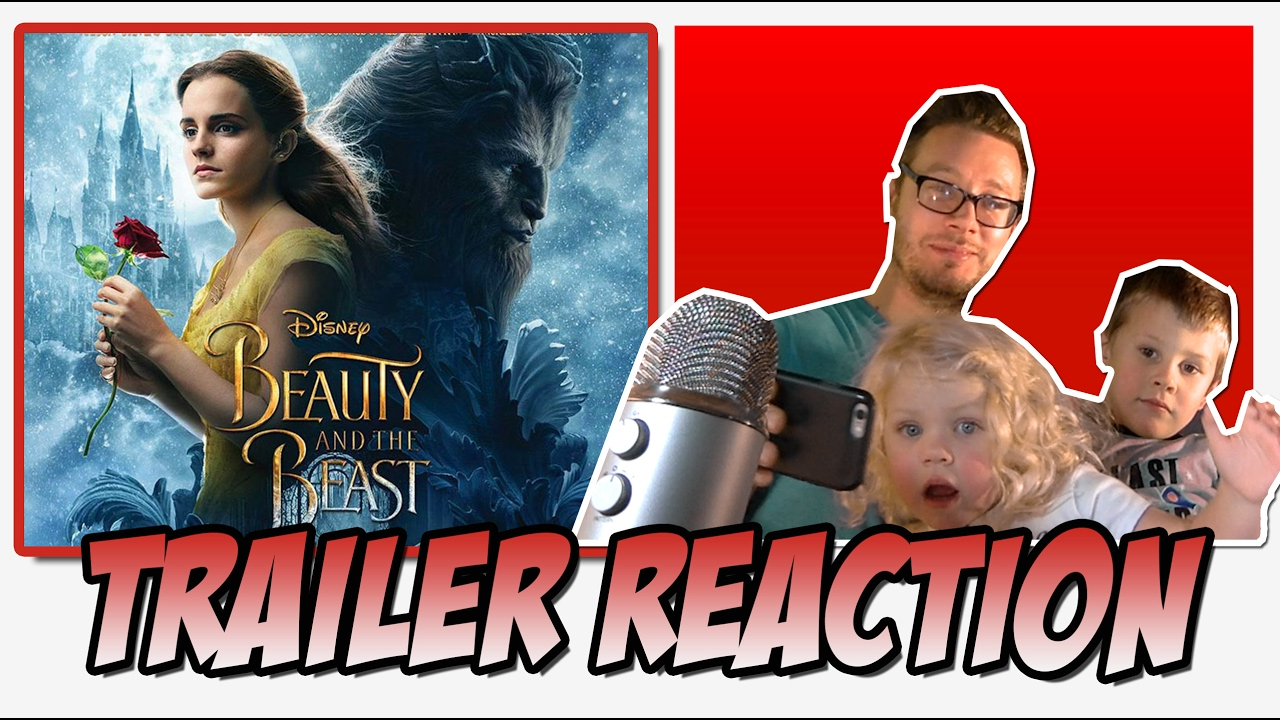 trailer reaction kids react beauty and the beast 2017