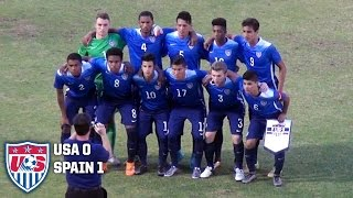 U-19 MNT vs. Spain: Highlights - Feb. 2, 2016