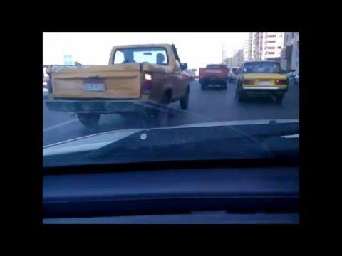 Driving Time Lapse - Alexandria corniche Egypt.