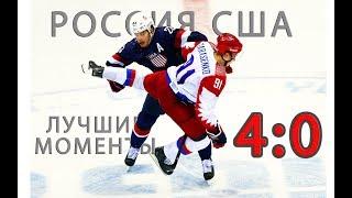 Хоккей Россия США 2018 Олимпиада 2018. Лучшие моменты 4:0 Видео.