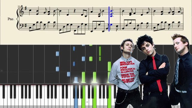 Green Day - Wake Me Up When September Ends - Piano Tutorial + SHEETS ...