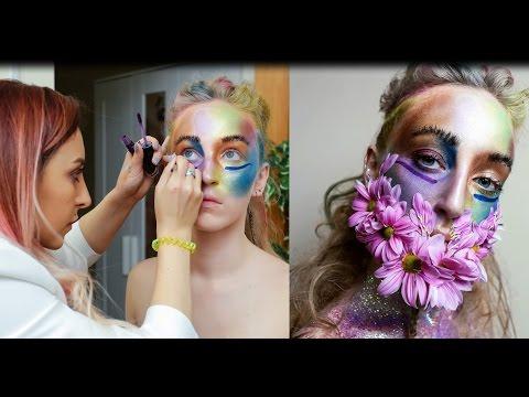 Школа макияжа. Коррекция формы глаз: близко поставленные глаза.