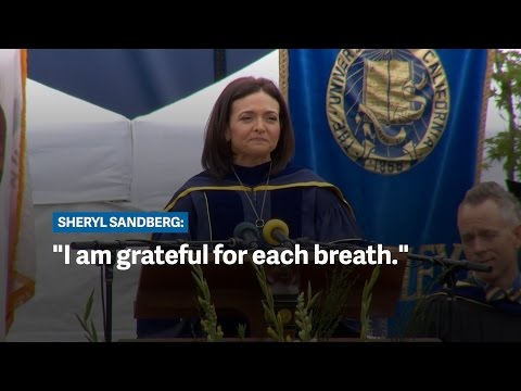 Sheryl Sandberg's 2016 graduation speech at UC Berkeley graduation speech