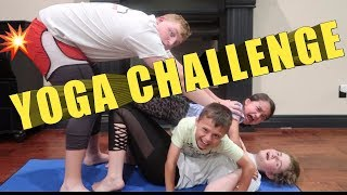 YOGA CHALLENGE 2018 🤣FUNNY FAMILY VLOGGERS🤣 competition