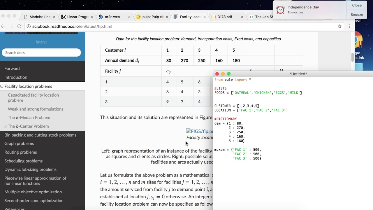 PuLP BASICS in Python: Intro, Lists, and Dictionaries