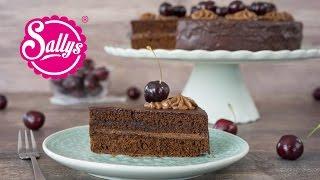 Schokoladen-Nougat-Torte mit Kirschen / Sonntagstorte