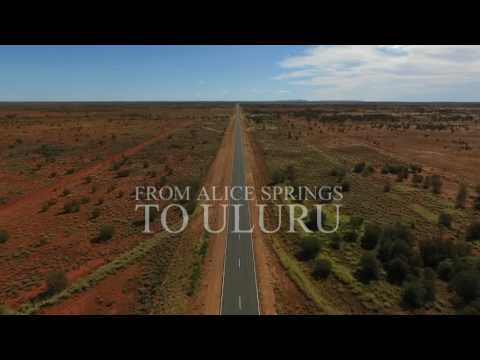 Alice Springs to Uluru (Drone video)