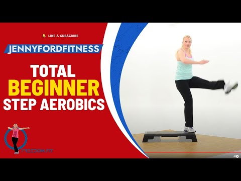 Beginner Step Aerobics Fitness Cardio -- JENNY FORD