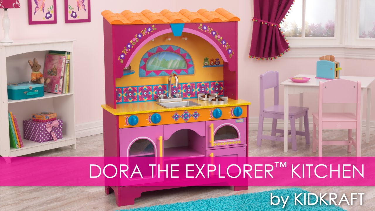 Childrens Play Kitchen Top Mount Sinks Dora The Explorer Children S Toy Review Youtube
