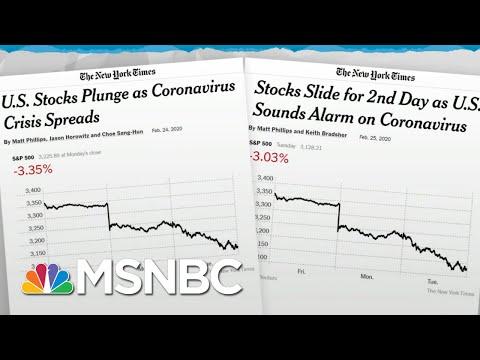Trump Admin Lacks Credibility To Calm Markets On Coronavirus News | Rachel Maddow | MSNBC