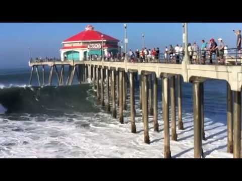 Big Waves In Huntington Beach 8/27/14