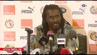 Conférence de presse d'Aliou Cissé à la veille de Sénégal-Madagascar