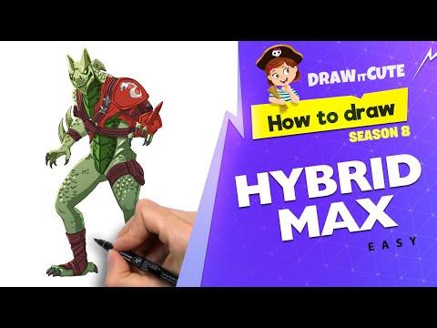 How to draw Hybrid Max | Fortnite Season 8 tutorial