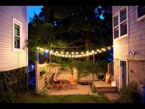 DIY Outdoor patio decorating ideas - YouTube on Diy Backyard Patio Cheap  id=42424