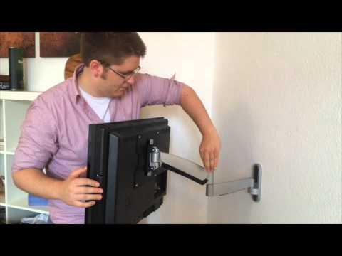 montage installation der tv wandhalterung tv mount high flex 200 von st rch youtube. Black Bedroom Furniture Sets. Home Design Ideas