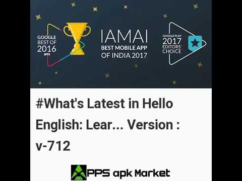 Latest Updates in Hello English: Learn English Android App Version