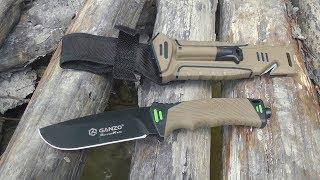 Нож выживания Ganzo Survival Knife G8012   обзор и тесты