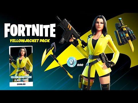 NEW UPDATE!! New YELLOW JACKET Skin! (Fortnite Battle Royale)