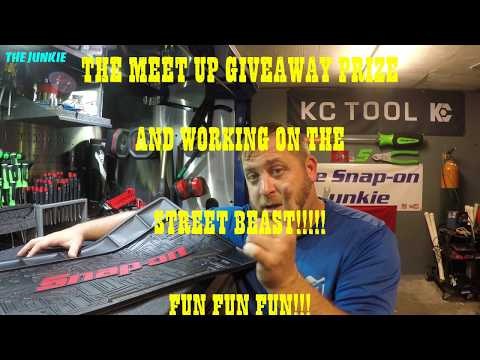 THE MEET UP GIVEAWAY PRIZE & WORKING ON THE STREET BEAST🔥🔥🔩🛠😘😋💪🏿💪🏿