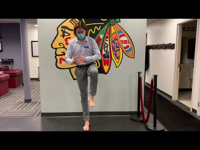 Maintaining an Arch while Standing on One Leg