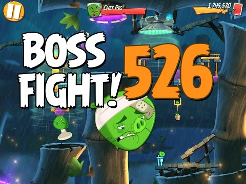 Angry Birds 2 Boss Fight 70! Chef Pig Level 526 Walkthrough - iOS, Android