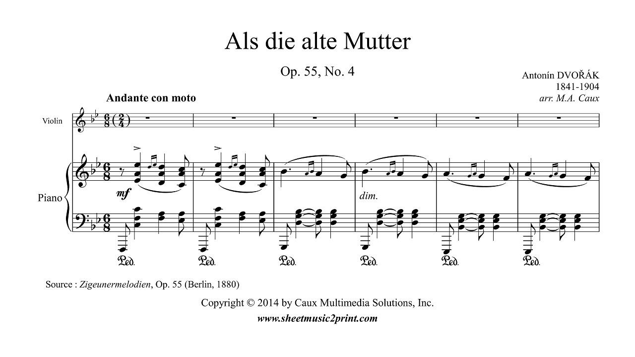 Dvorak : Songs My Mother Taught Me - Violin