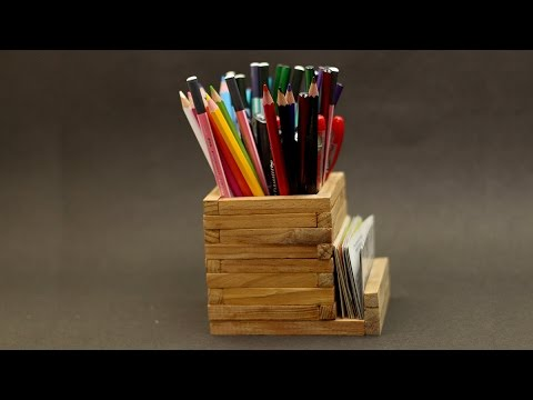 DIY : Wooden Pencil Holder