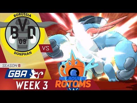 GBA S8 Week 3 | Borussia Donphan (1-1) VS  Melbourne Rotoms (1-1) w/ El Scizor