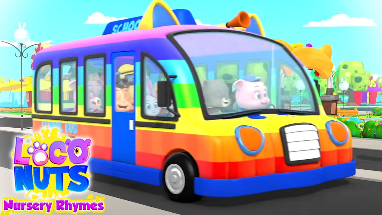 The Wheels On The Bus | Bus Song For Children | Nursery Rhymes and Kids Songs with Loco Nuts