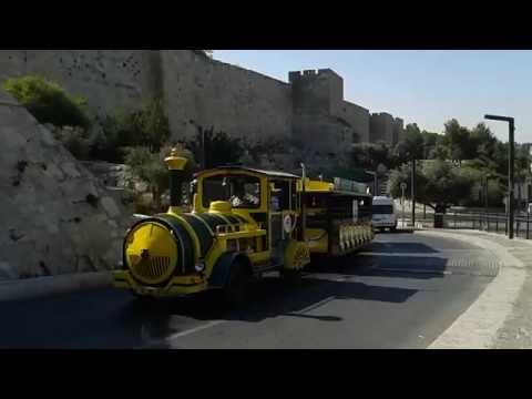 Jerusalem - a Walk from Jaffa Gate to the First Railway Station. July 2016 Israel