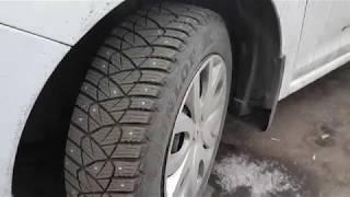 Dunlop Ice Touch - отличные шины без потери шипов за 4 года, отзыв. Шина данлоп. автошины dunlop