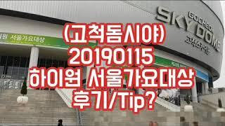 고척돔시야/2019서울가요대상후기/워너원wannaone…