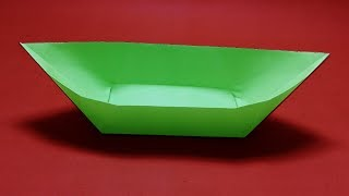 Origami Boat-How to make paper Boat that floats?Paper Boat Origami instructions step by step.