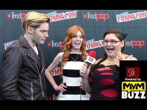 Dom Sherwood & Katherine McNamara - Shadowhunters Interview - New York ComicCon 2015   yael.tv
