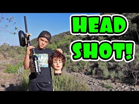 SHOOTING MANNEQUIN HEADS WITH PAINTBALL GUN!