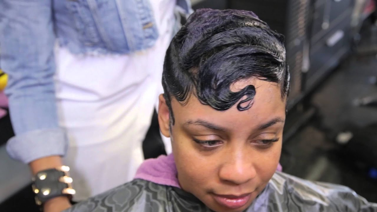 HOW TO FINGER WAVE AND CURL SHORT HAIR