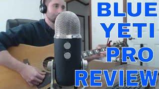Blue Yeti Pro USB XLR Microphone Audio Sound Test