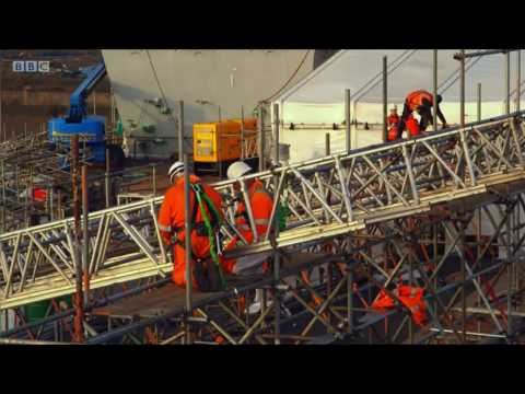 BBC report on Monitor Coatings' work at HMS Queen Elizabeth Aircraft Carrier